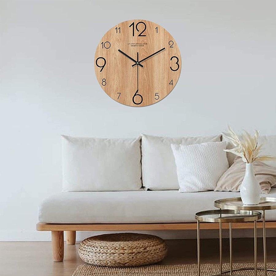 SALE 掛け時計 おしゃれ 北欧 連続秒針 静音 かわいい 壁掛け時計 シンプル モダン 部屋飾り 限定特価 フレームなし 24cm 24 かけ時計 贈り物 非電波