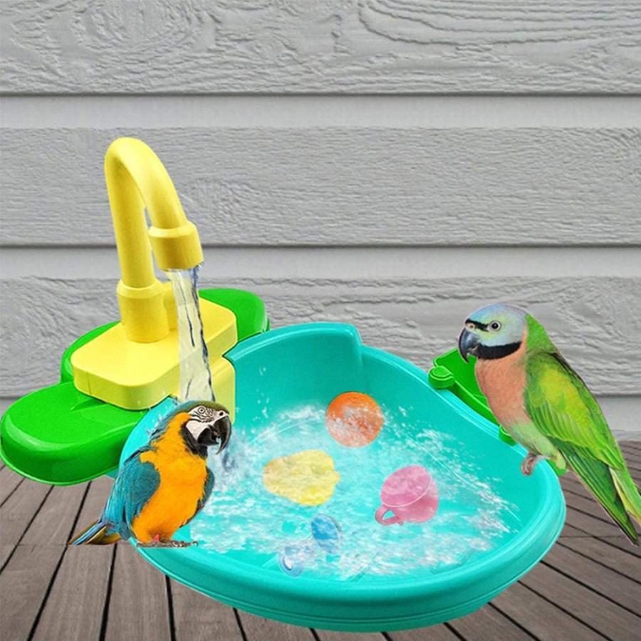 鳥 水浴び容器 バスタブ インコ 待望 文鳥 小鳥用 水浴び オウム入浴 浴槽 別倉庫からの配送 鳥用シャワー コンパクト 自動シャワー 鳥浴び容器 水浴びケース