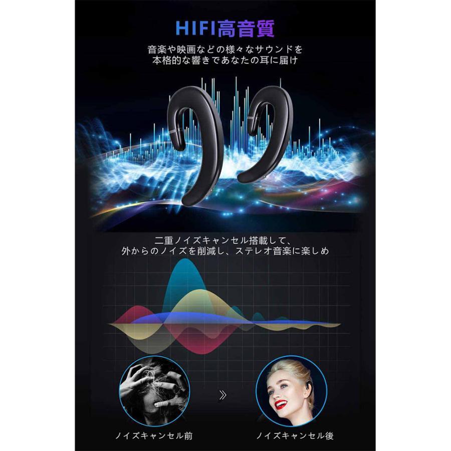 2021最新版 Bluetooth 5.0 耳掛け式Bluetooth イヤホン 片耳 自動ペアリング 高音質 スポーツ IPX5防水規格 完全ワイヤレス イヤホン 超軽量|newpark|05