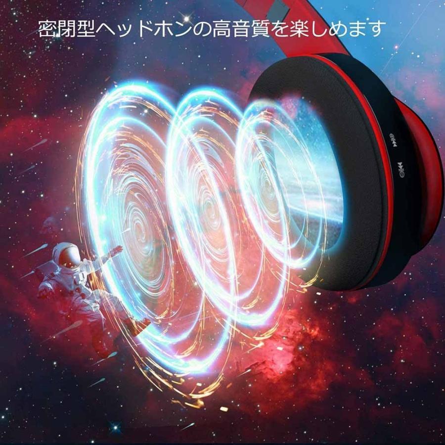 ヘッドホン Bluetooth ・ ケーブル着脱式・ 折りたたみ式 密閉型 マイク内蔵 USB-C急速充電 Hi-Fi マイクロSDカード|newpark|04