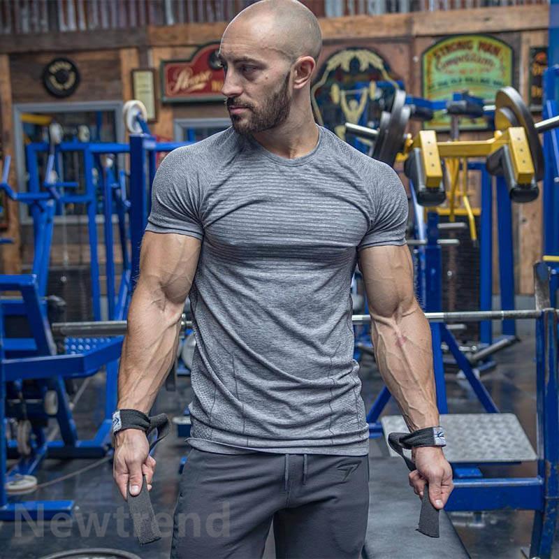 トレーニングウエア メンズ ジム 半袖 Tシャツ スポーツウェア 吸汗 フィットネス 筋トレ トレーニングトップス ヨガウェア 父の日 夏|newtrend-store|10