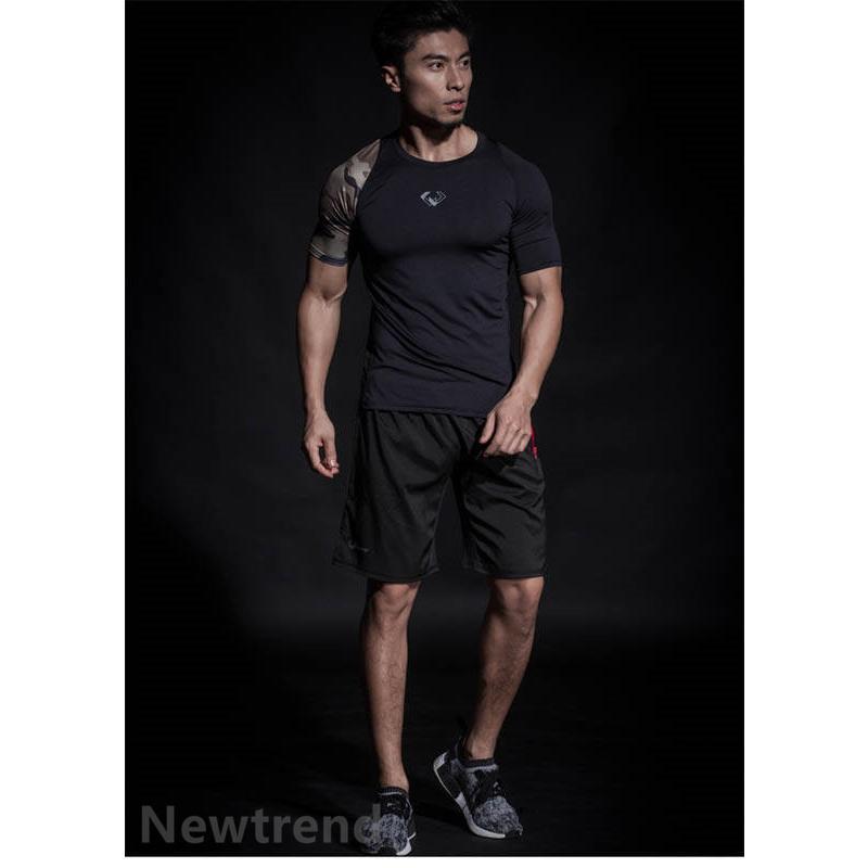 トレーニングウエア メンズ ジム 半袖 Tシャツ スポーツウェア 速乾フィットネス 筋トレ トレーニングトップス ヨガウェア 父の日 夏|newtrend-store|11