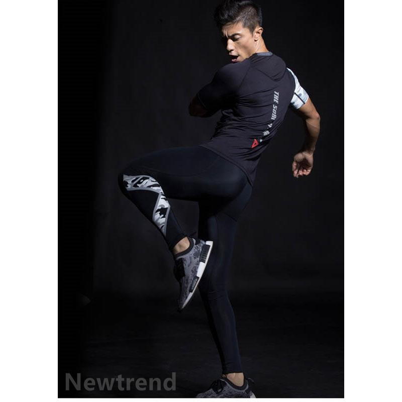 トレーニングウエア メンズ ジム 半袖 Tシャツ スポーツウェア 速乾フィットネス 筋トレ トレーニングトップス ヨガウェア 父の日 夏|newtrend-store|05