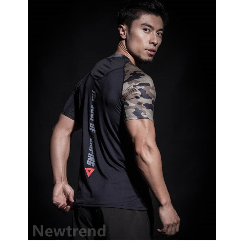 トレーニングウエア メンズ ジム 半袖 Tシャツ スポーツウェア 速乾フィットネス 筋トレ トレーニングトップス ヨガウェア 父の日 夏|newtrend-store|09