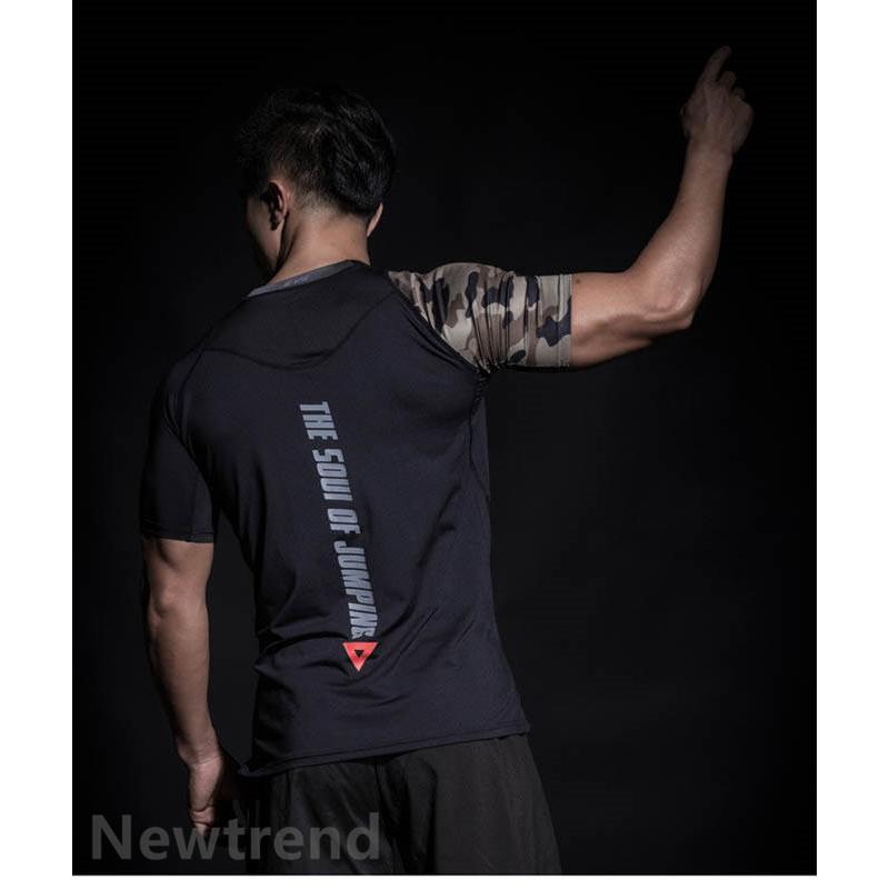 トレーニングウエア メンズ ジム 半袖 Tシャツ スポーツウェア 速乾フィットネス 筋トレ トレーニングトップス ヨガウェア 父の日 夏|newtrend-store|10