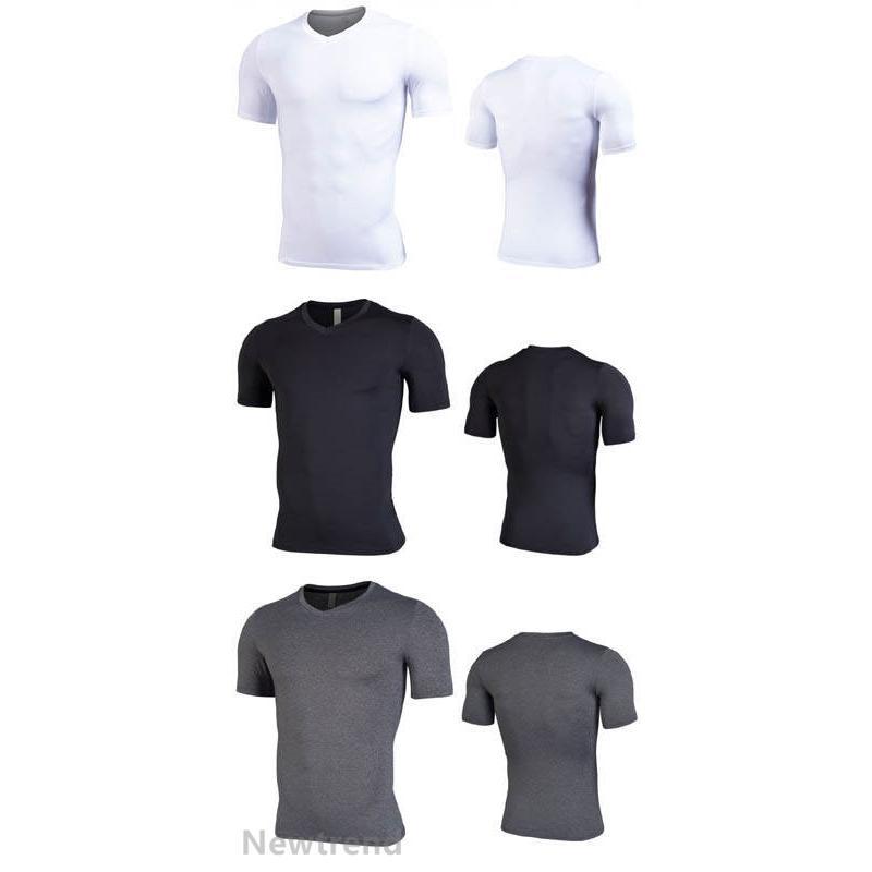 トレーニングウエア メンズ ジム 半袖 Tシャツ スポーツウェア 吸汗 フィットネス 筋トレ 9色 トレーニングトップス ヨガウェア 父の日 夏|newtrend-store|05