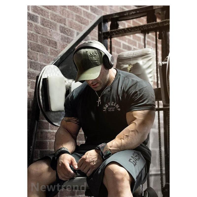 トレーニングウエア メンズ ジム スポーツウェア 吸汗  半袖 Tシャツ フィットネス 筋トレ トレーニングトップス ヨガウェア 父の日 夏|newtrend-store|02