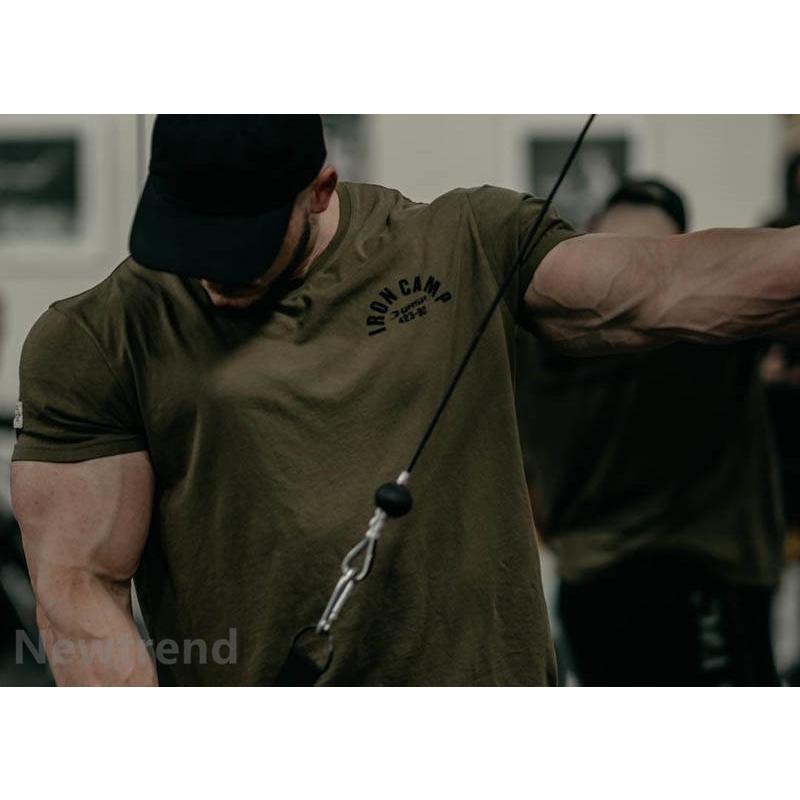 トレーニングウエア メンズ ジム スポーツウェア 吸汗  半袖 Tシャツ フィットネス 筋トレ トレーニングトップス ヨガウェア 父の日 夏|newtrend-store|04