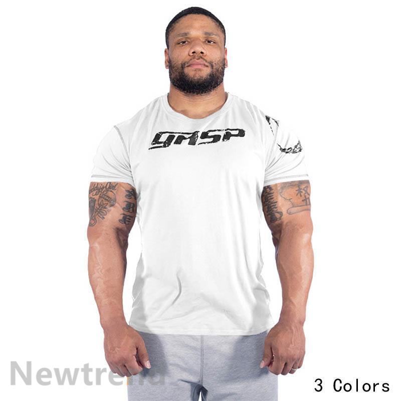 トレーニングウエア メンズ ジム 半袖 Tシャツ スポーツウェア 吸汗 フィットネス 筋トレ トレーニングトップス ヨガウェア 父の日 夏|newtrend-store