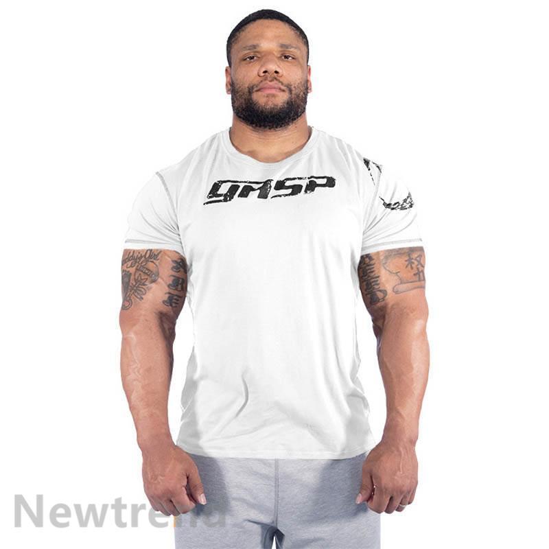 トレーニングウエア メンズ ジム 半袖 Tシャツ スポーツウェア 吸汗 フィットネス 筋トレ トレーニングトップス ヨガウェア 父の日 夏|newtrend-store|05