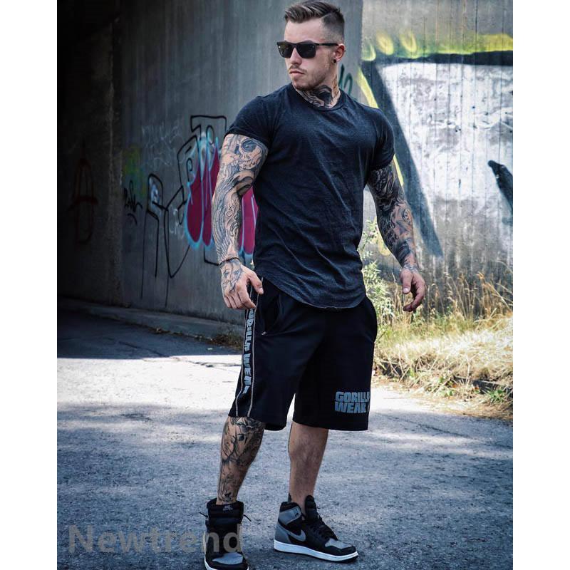 トレーニングウエア メンズ ジム 半袖 Tシャツ スポーツウェア 吸汗 フィットネス 筋トレ トレーニングトップス ヨガウェア 父の日 夏|newtrend-store|04
