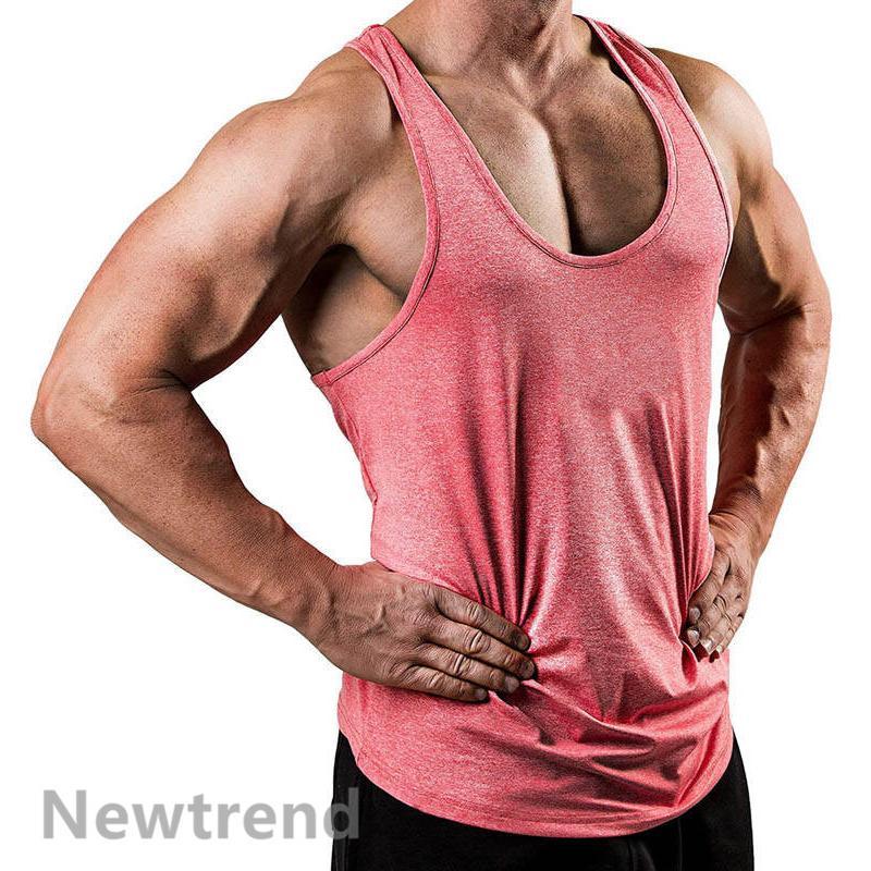 トレーニングウエア メンズ ジム チョッキ スポーツウェア 速乾 吸汗 フィットネス 筋トレ ベスト ヨガウェア 父の日 夏|newtrend-store|11