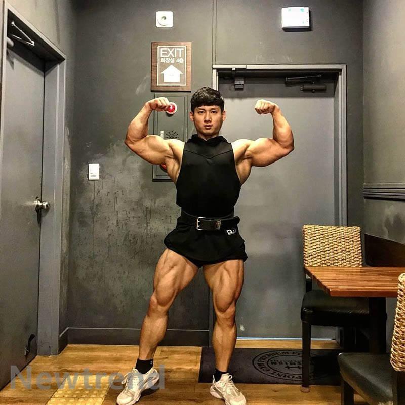 トレーニングウエア メンズ ジム チョッキ スポーツウェア 帽子付き 速乾 吸汗 フィットネス 筋トレ ベスト ヨガウェア 父の日 夏|newtrend-store|04