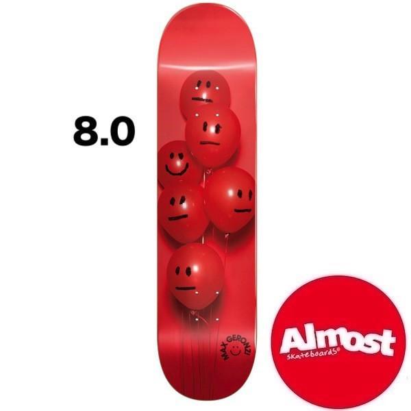 【ALMOST】オルモスト BALLOON SERIES 8.0inc デッキ DECK skate スケボー スケートボード [GERONZI]