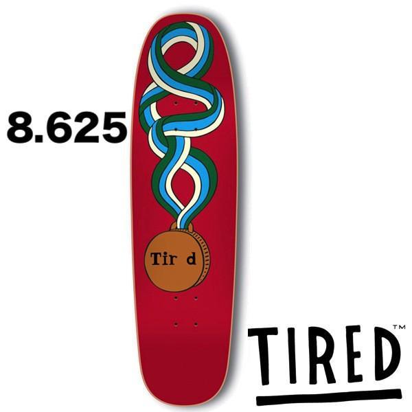 【TI赤】タイレッド TIR D MEDAL(CHUCK) 8.625inc デッキ DECK skate スケボー ストリート クルージング ランプ プール [TEAM]
