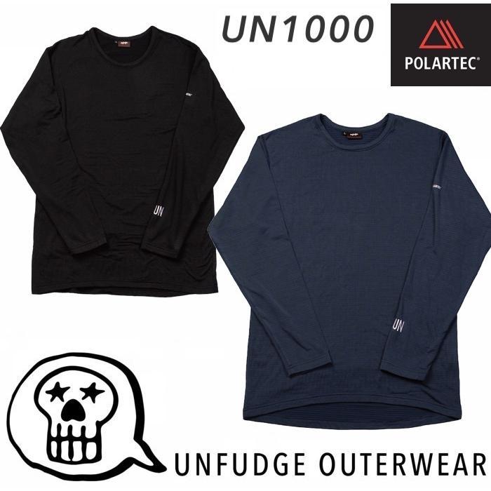 【unfudge】アンファッジ 21-22 Crew Neck Underwear ミッドレイヤー UN1000 インナー POLARTEC ポーラーテック スノーボード バックカントリー SNOW BLACK NAVY|newvillage