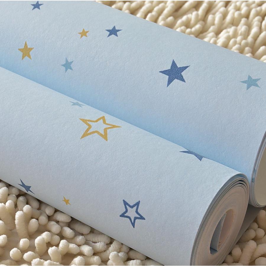 3d 壁紙 53 1000cm 子供部屋 星柄 Diy 不織布 カビ対策 防湿 防水
