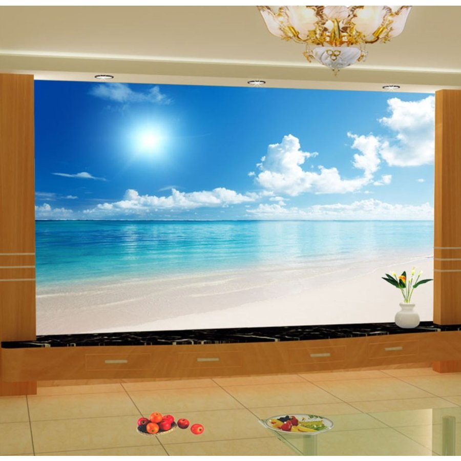 3d 壁紙 1ピース 1m2 自然風景 海 ビーチ 防カビ 耐水 インテリア