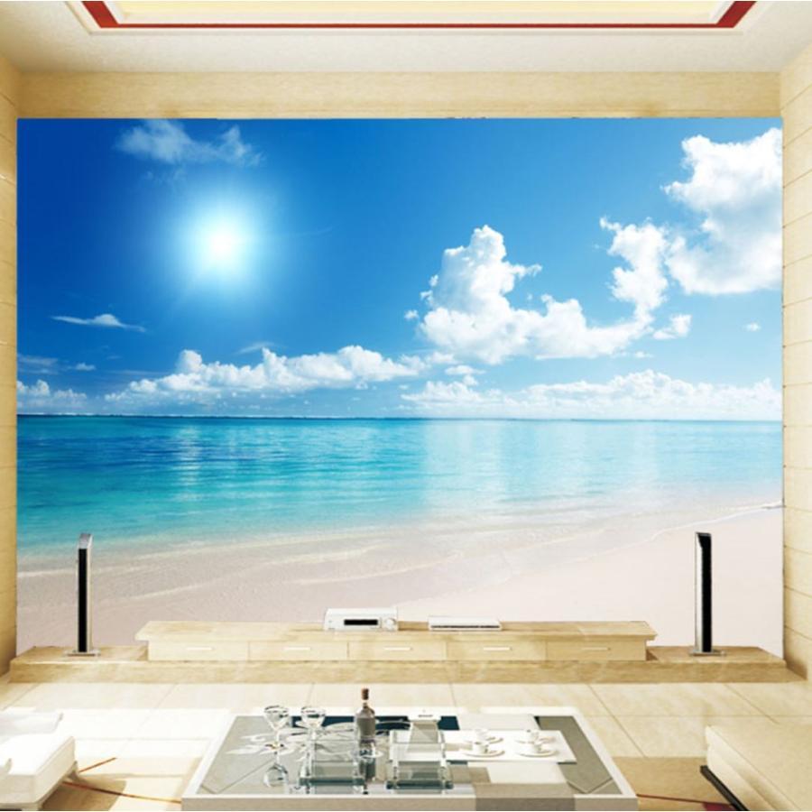 3d 壁紙 1ピース 1m2 自然風景 海 ビーチ 防カビ 耐水 インテリア 装飾 寝室 リビング H H Next Dream Shop 通販 Yahoo ショッピング