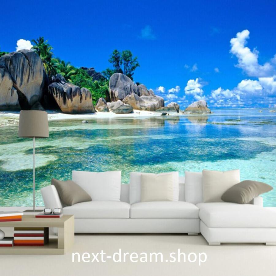 3d 壁紙 1ピース 1m2 自然風景 海 ビーチ 島 海外景色 おしゃれクロス インテリア 装飾 寝室 リビング H H Next Dream Shop 通販 Yahoo ショッピング