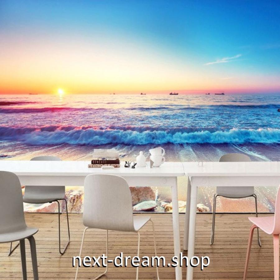 3d 壁紙 1ピース 1m2 自然風景 海の景色 夕日 朝日 波打ち際 インテリア 装飾 寝室 リビング H H Next Dream Shop 通販 Yahoo ショッピング