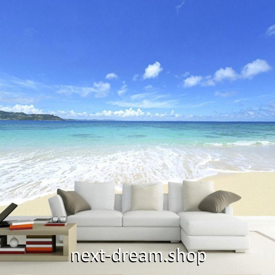 3d 壁紙 1ピース 1m2 自然風景 青い海 白い砂浜 ビーチ インテリア