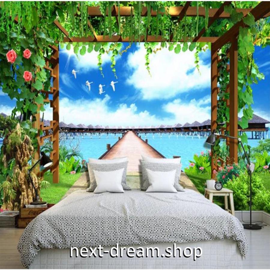 カスタム3d壁紙 1ピース 1m2 自然風景 リゾート 植物 水上コテージ クロス張替 おうち時間充実 おしゃれ キッチン 寝室 リビング M M Next Dream Shop 通販 Yahoo ショッピング