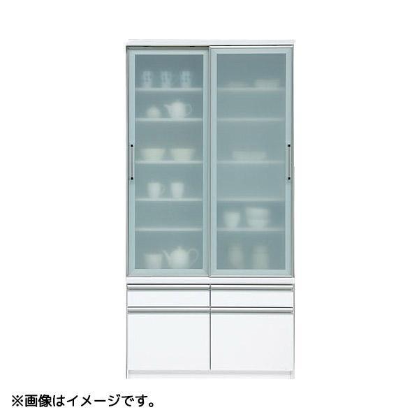 食器棚 (ヘネシー ハイグロス 100DB) 幅99.5cm 収納棚 キッチン収納 台所棚
