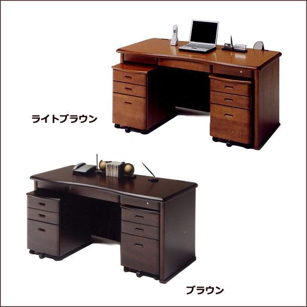 デスク+ワゴン (レクサス )机 書斎 ライトブラウン/ブラウン パソコンデスク オフィスデスク