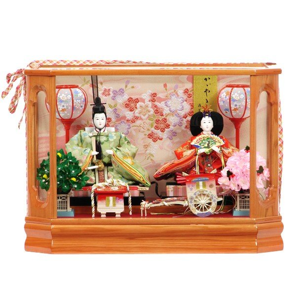 雛人形 コンパクト ケース飾り 親王飾り 518 さやか 235-1201 衣裳着人形 お雛様 展示現品