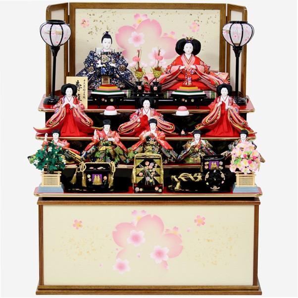 雛人形 コンパクト収納飾り 十人飾り ひな人形 お雛様 16H174 箱入り十人 604 衣裳着人形 桃の節句/数量限定
