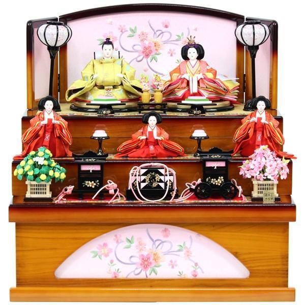 雛人形 ひな人形 衣裳着 収納三段飾り 収納飾り 三段飾り 五人飾り 衣裳着人形 オリジナル雛人形 RO900S91 数量限定 お雛様 家具調収納台