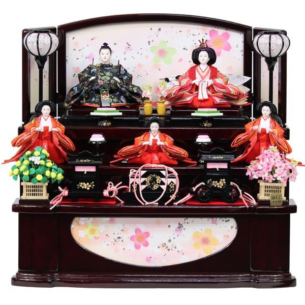 雛人形 ひな人形 衣裳着 収納三段飾り 収納飾り 三段飾り 五人飾り 衣裳着人形 オリジナル雛人形 RO010S91 数量限定 お雛様