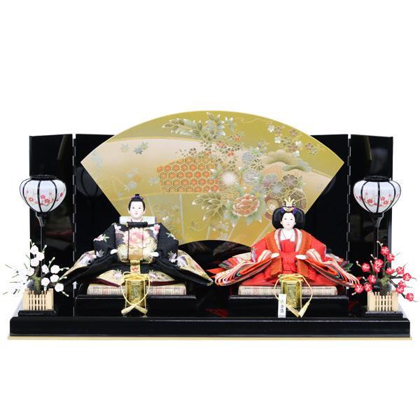 雛人形 ひな人形 衣裳着 平飾り 親王飾り 衣裳着人形 オリジナル雛人形 RO150S91 数量限定 お雛様 扇屏風