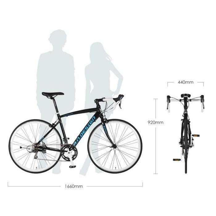 自転車 ロードバイク 初心者 700c 自転車 本体 軽量 アルミ STI 14段変速 お客様組立 アウトレット a.n.design works 5014AL|nextbike|03