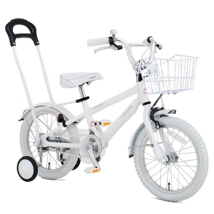 10円募金 (arcoba)フルオプション(4点サービスセット) 14インチアルミフレーム幼児車 アルコバ 子供用自