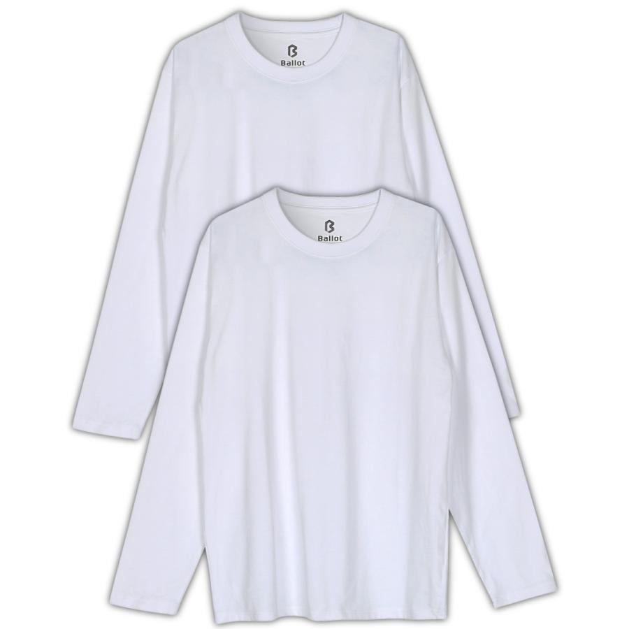 長袖tシャツ メンズ 無地 厚手 ロンt 大きいサイズ 2枚組 白 黒 灰 Ballot バロット ASTYSHOP 送料無料 キャッシュレス|nextfreedom|14