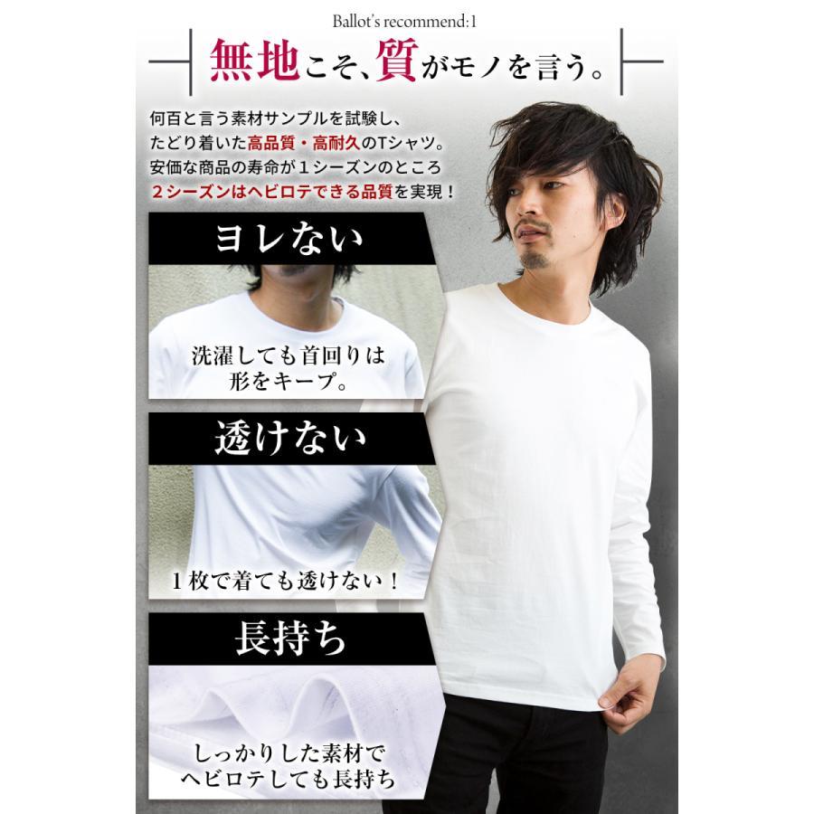 長袖tシャツ メンズ 無地 厚手 ロンt 大きいサイズ 2枚組 白 黒 灰 Ballot バロット ASTYSHOP 送料無料 キャッシュレス|nextfreedom|07