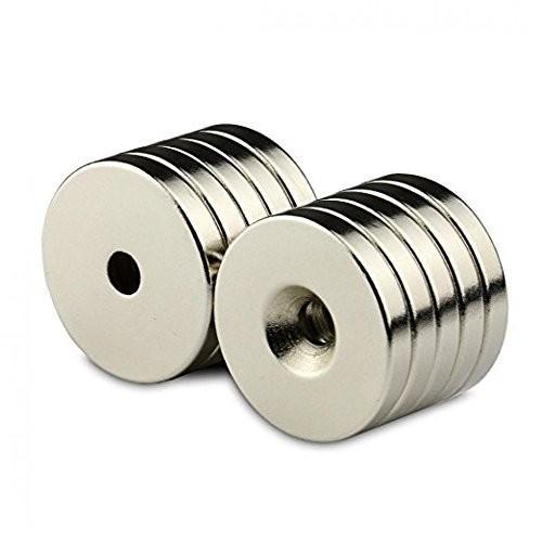 強力マグネット N50磁石 丸型マグネット 皿穴付きマグネット 5個セット NMG-026 正規取扱店 人気ブレゼント 30×5×5mm ネオジウム