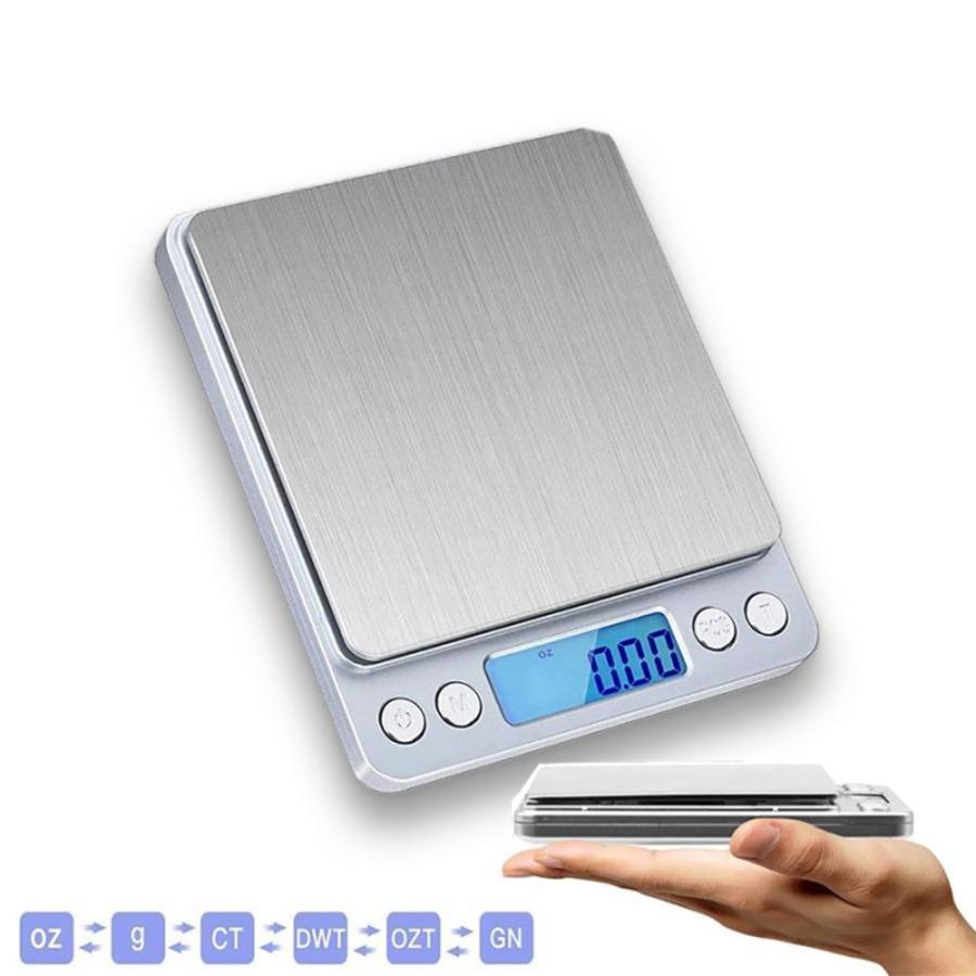 高級品 超精密 0.01g-500g 衛生的なステンレス天板 クッキングスケール デジタルスケール 電子はかり オートオフ機能 精密 カウント機能搭載 HAKARINKUN 電子天秤 小型 セットアップ