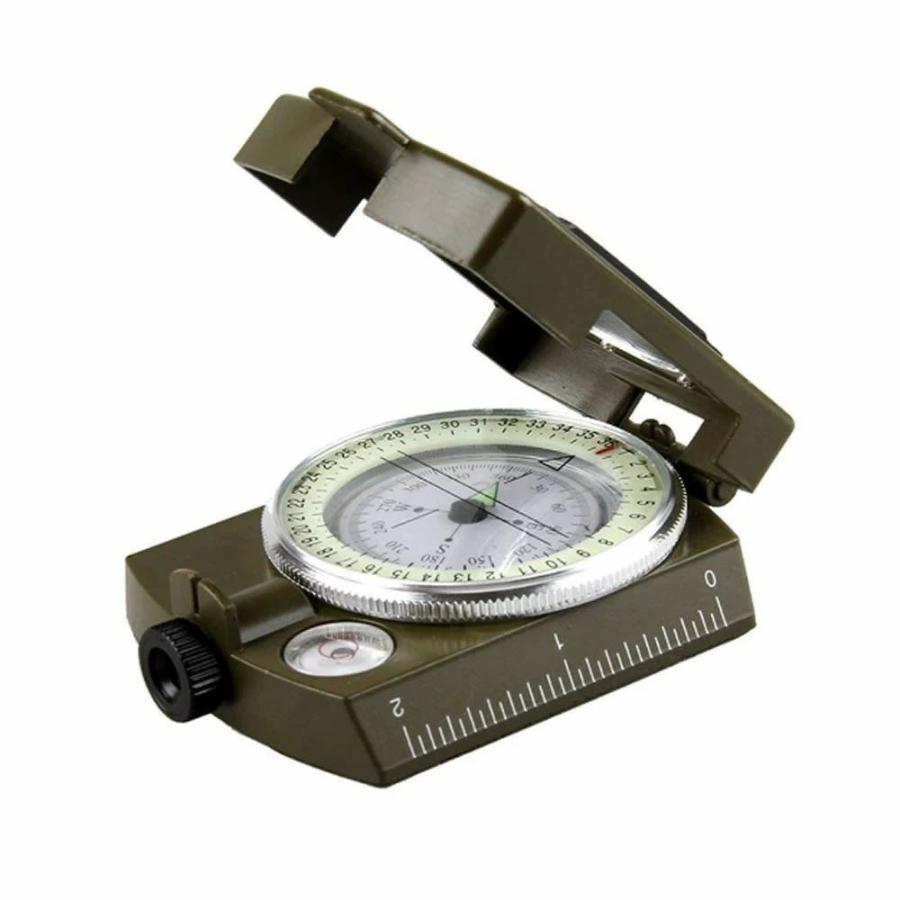 コンパス 方位磁石 方位磁針 高精度コンパス オイルコンパス 新品未使用 GUNPAS 蓄光 ミリタリーコンパス 折り畳み式 軍用コンパス ファクトリーアウトレット
