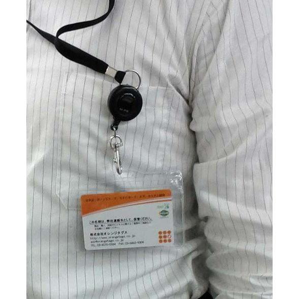 コード巻取リール式クリップ付ネックストラップ 名札&名刺 IDカードケース IDカードホルダー,ソフトケース, FP-33|nfc-card-felica|05