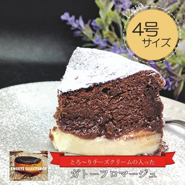 敬老の日 ガトーショコラ ガトーフロマージュ 4号ケーキ(3〜4人用) お取り寄せ プレゼント 手土産 nfcs