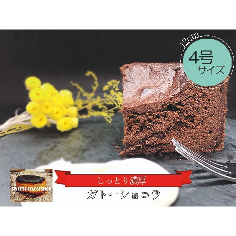 敬老の日 ガトーショコラ チョコレートケーキ スイーツ 4号(3〜4人用) 濃厚チョコ プレゼント お取り寄せ  nfcs 02