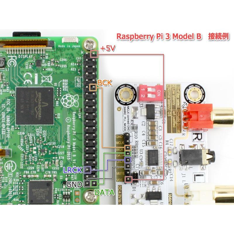 I2S [IIS] 入力DAC PCM5102A搭載32bit 384kHz DAC完成基板 Raspberry Pi 動作OK nfj 05
