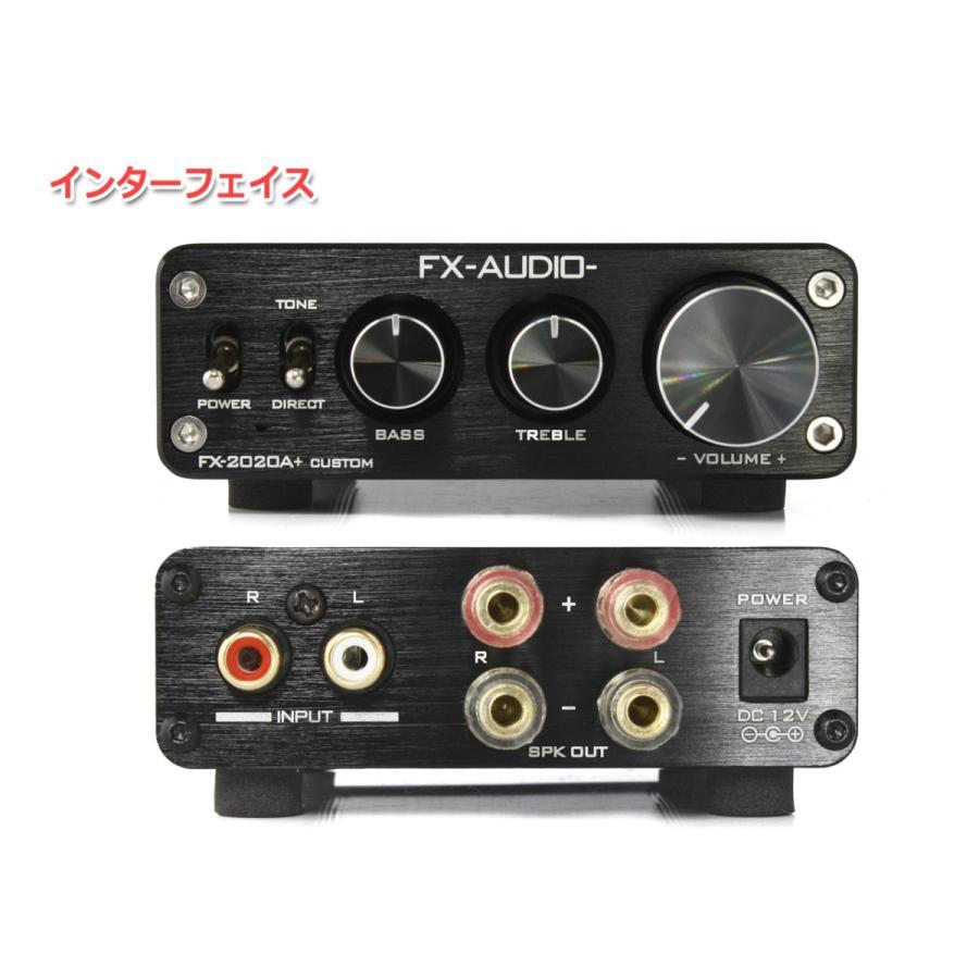 FX-AUDIO- FX-2020A+ CUSTOM [ブラック]TRIPATH製TA2020-020搭載デジタルアンプ nfj 02