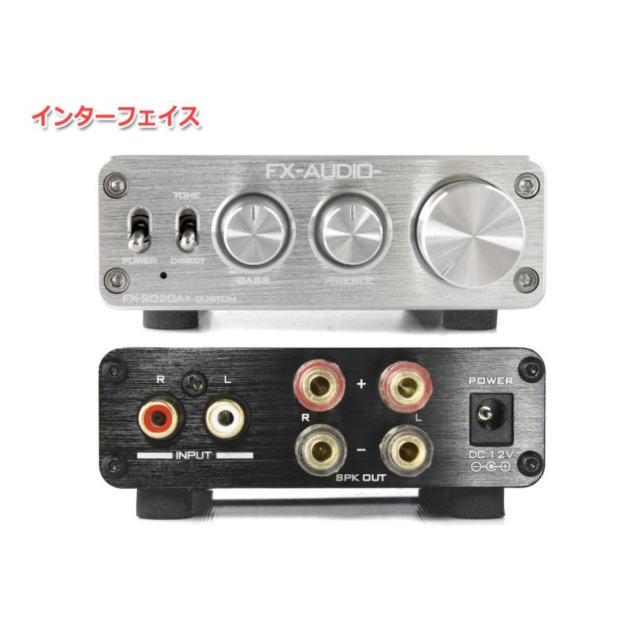 FX-AUDIO- FX-2020A+ CUSTOM [シルバー]TRIPATH製TA2020-020搭載デジタルアンプ|nfj|02