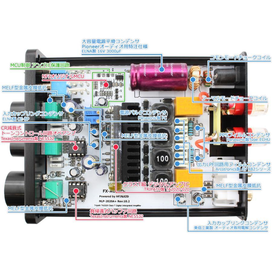 FX-AUDIO- FX-2020A+ CUSTOM [シルバー]TRIPATH製TA2020-020搭載デジタルアンプ|nfj|03
