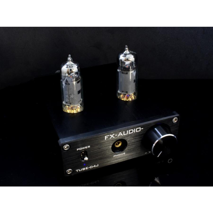 FX-AUDIO- TUBE-04J[ブラック] 真空管ハイブリッドプリメインアンプ 真空管+デジタルアンプIC|nfj|06