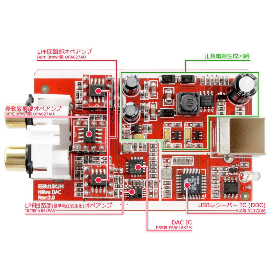FX-AUDIO- FX-04J+ OPA627×3搭載 NFJ Edition 32bitハイエンドモバイルオーディオ用DAC ES9018K2M搭載 バスパワー駆動ハイレゾ対応DAC|nfj|05